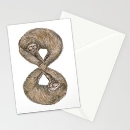 Infinity of Sloth Stationery Cards