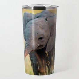 Baby Elephant and Birds Travel Mug