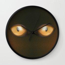 Eye, yellow eye, yellow eyes, yellow, eyes Wall Clock