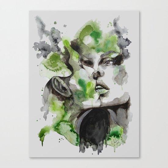 Kiss by carographic Canvas Print