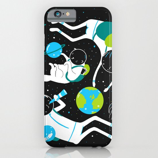 A Day Out In Space - Black iPhone & iPod Case