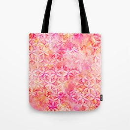 Flower-of-Life Paint Pattern Pink 2 Tote Bag