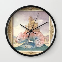 Camelot on a Chameleon Wall Clock