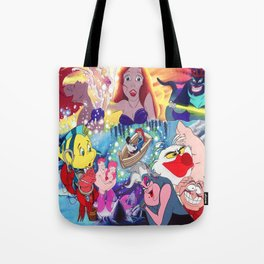The Little Mermaid Collage Tote Bag