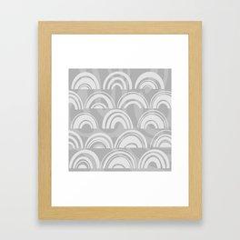 Grey Rainbow Framed Art Print