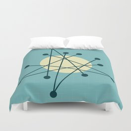 1950s atomic design Duvet Cover