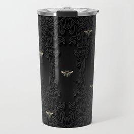 Black Bees and Lace Travel Mug