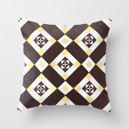 Floor Series: Peranakan Tiles 17 Throw Pillow