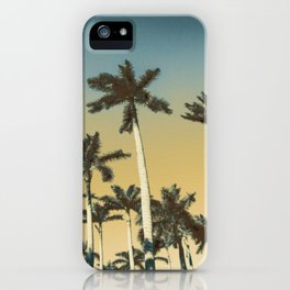 Palms and clear skies iPhone Case