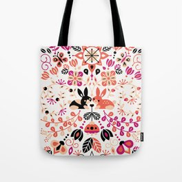 Bunny Lovers – Peach & Black Palette Tote Bag