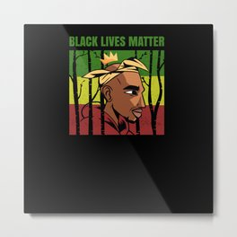 Black Lives Matter Afroamerican King Metal Print