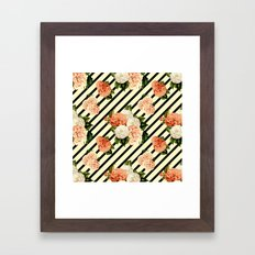Chrysanthemum Rain Framed Art Print