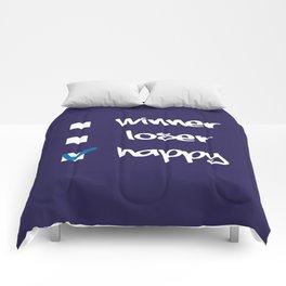 Winner, loser, happy Comforters