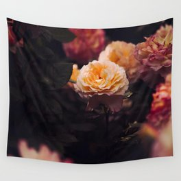 Bouquet Of Sunset Yellow orange Purple Flowers Wall Tapestry