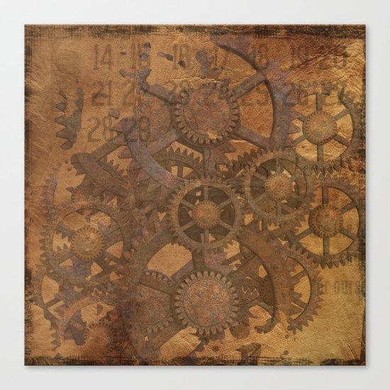 Rusty Gears Canvas Print
