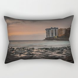 Sunset with long exposure on a beach of Tenerife. Rectangular Pillow