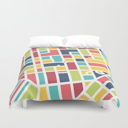 Lancaster, PA Block Map Duvet Cover