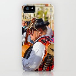 Portuguese musician, two guitars iPhone Case