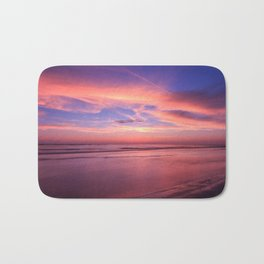 Pink Sky and Ocean Bath Mat