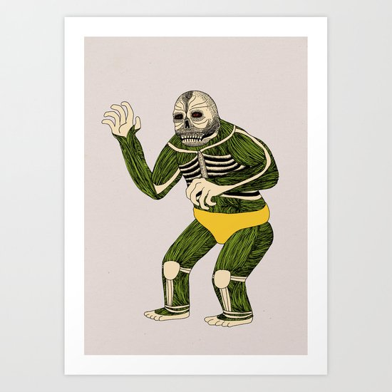 The Original Glowing Skull Art Print
