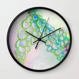 Moving In Different Directions, Abstract Painting Wall Clock