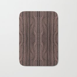 Brown braid jersey cloth texture abstract Bath Mat