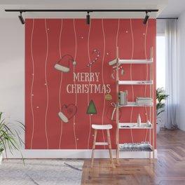 New Year, Cristmas, winter holidays Wall Mural