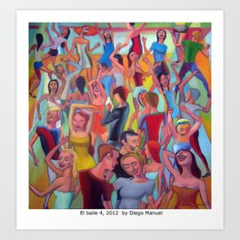 El baile 4 by Diego Manuel Art Print