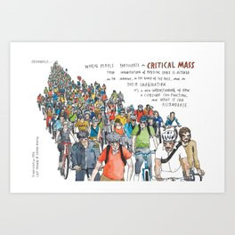 Critical Mass from Meanwhile in San Francisco Art Print