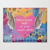 angel wings Canvas Prints featuring Angel Wings by Brooke LeAnne