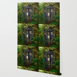 Abandoned Tardis doctor who in deep jungle Wallpaper