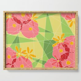 Floral Cubed Serving Tray