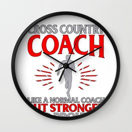 Cross Country Coach Like Normal Coach But Stronger and Prouder Wall Clock