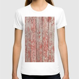 Rustic red wood T-shirt