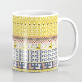 Fair Isle Christmas Alpaca Pattern Coffee Mug