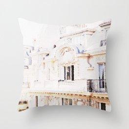 Paris Rooftops Watercolor Throw Pillow