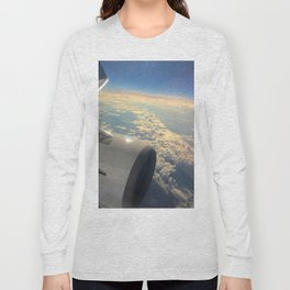 Sun And Clouds From Plane Long Sleeve T-shirt