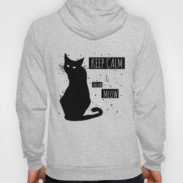 Hand drawn grange black cat Hoody