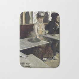The Absinthe Drinker by Edgar Degas Bath Mat