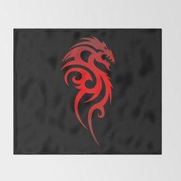 Dragon Tribal Symbol Throw Blanket