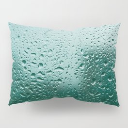 Abstract water drops on glass, rainy day Pillow Sham