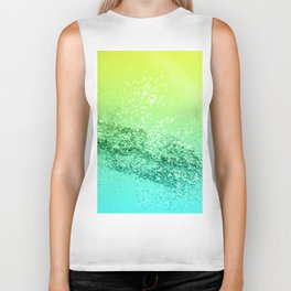 Tropical Beach Lady Glitter #3 #shiny #decor #art #society6 Biker Tank