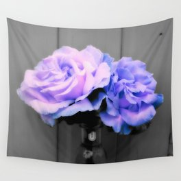 Flowers Lavender Periwinkle Pop of Color Wall Tapestry