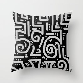Path Less Traveled Throw Pillow