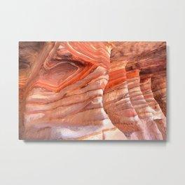 Colorful sandstone in Petra, Jordan (Picture 5) Metal Print
