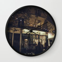 Bookstore with charm Wall Clock