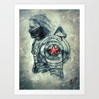 Winter Soldier Shield Art Print