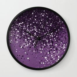 PURPLE Glitter Dream #1 #shiny #decor #art #society6 Wall Clock