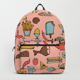 Food Frenzy pink Backpack
