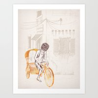 sam smith Art Prints featuring Sam by David Fleck